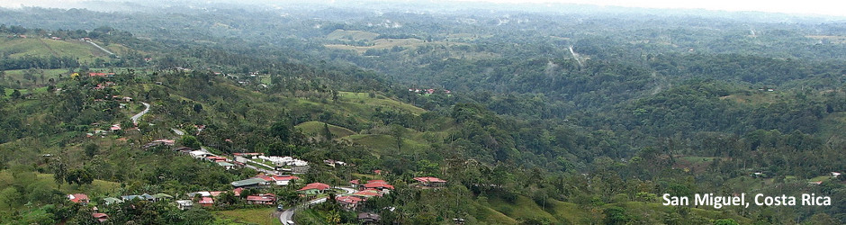 View of San Miguel, Costa Rica