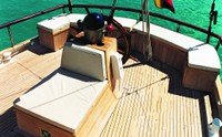Galapagos Sail Vessel Beagle Stern Seating Area