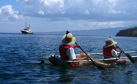 Sea Kayaking with the Galapagos Cruise Ship Evolution