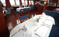 Galapagos Cruise Yacht Mary Anne Dining Area