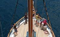 Galapagos Cruise Yacht Sagitta Bow