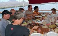 Galapagos Cruise Yacht Sagitta Al Fresco Dining