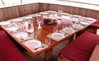 Galapagos Cruise Yacht Sagitta Dining
